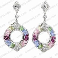 Earrings 925 Sterling Silver  Rhodium