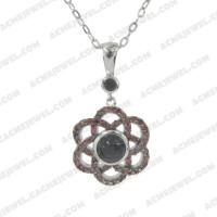 Pendants 925 sterling silver  2-tone Rhodium and black rhodium
