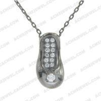 Necklace 925 Sterling Silver   Black rhodium
