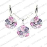 Jewellery Set 925 sterling silver   Rhodium